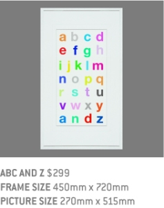 Nursery Print, Wall Art, Babies Nursery, Framed Print, ABC Print, Quote Print, Typography Print, Kids Room, Colourful Print, Educational Print