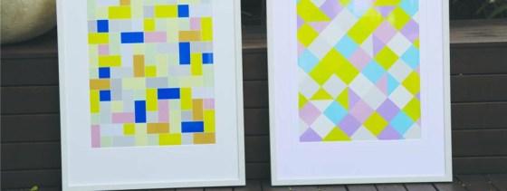 Home Decor, Pattern Print, Diamond Print, Framed Print, Wall Art