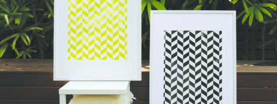 Home Decor, Yellow print, Black Print, Framed Print, Wall Art