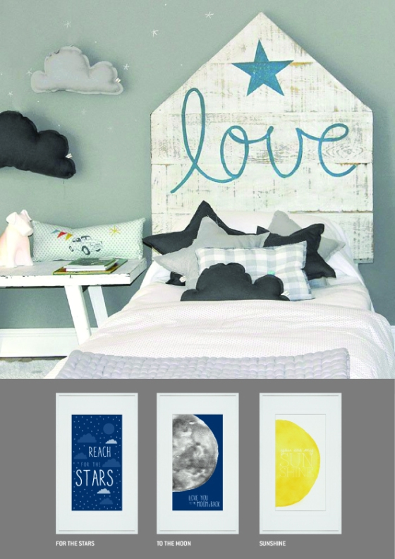 wall art, kids room, baby nursery, watercolour print, yellow print, sun print, moon print, stars print. sleep print